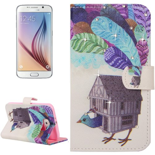 For Galaxy S6 Poult Pattern Leather Case with Holder, Card Slots & Wallet