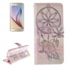 For Galaxy S6 Windbell Pattern Leather Case with Holder, Card Slots & Wallet