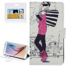 For Galaxy S6 Fashion Pattern Leather Case with Holder, Card Slots & Wallet