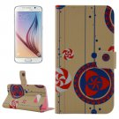 For Galaxy S6 Ethnic Pattern Leather Case with Holder & Wallet