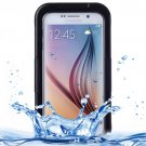 For Galaxy S6 Black IPX8 Waterproof PVC Case with Touch Responsive Front