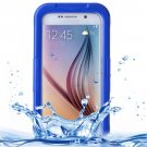 For Galaxy S6 Dark Blue IPX8 Waterproof PVC Case with Touch Responsive Front
