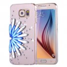 For Galaxy S6 Fevelove Diamond Flower Pattern PC Protective Case Back Cover