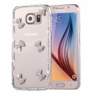 For Galaxy S6 Fevelove Diamond Bowknots Pattern PC Protective Case Back Cover