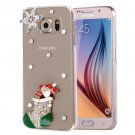 For Galaxy S6 Fevelove Diamond Boots Pattern PC Protective Case Back Cover