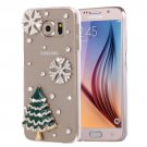 For Galaxy S6 Fevelove Diamond Tree Pattern PC Protective Case Back Cover