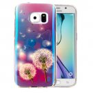 For Galaxy S6 IMD Dandelions Pattern Blu-ray Soft TPU Protective Case