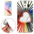 For Galaxy S6 Color Pencil Pattern TPU Protective Case