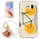 For Galaxy S6 Lemon Pattern TPU Protective Case