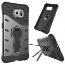 For Galaxy S6 Black Rotating Tough Armor TPU+PC Combination Case & Holder