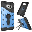 For Galaxy S6 Blue Rotating Tough Armor TPU+PC Combination Case & Holder