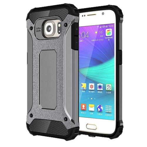 For Galaxy S6 Grey Tough Armor TPU + PC Combination Case
