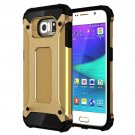 For Galaxy S6 Gold Tough Armor TPU + PC Combination Case