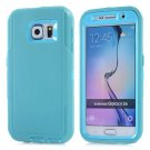 For Galaxy S6 Baby Blue 3 in 1 Hybrid Silicon & Plastic Protective Case