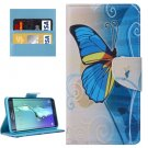 For Galaxy S6 Edge+ Butterfly Pattern Leather Case with Holder, Card Slots & Wallet