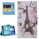 For Galaxy S6 Edge+ Paris Pattern Leather Case with Holder, Card Slots & Wallet