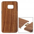 For Galaxy S6 Edge+ Separable Zebra Wooden Case