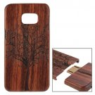 For Galaxy S6 Edge+ Tree Pattern Separable Sapele Wooden Case