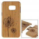 For Galaxy S6 Edge+ Dandelion Pattern Separable Bamboo Wooden Case