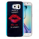 For Galaxy S6 Edge+ IMD Red Lips Pattern Blu-ray Soft TPU Protective Case