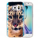 For Galaxy S6 Edge+ IMD Tiger Pattern Blu-ray Soft TPU Protective Case