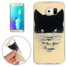 For Galaxy S6 Edge+ Abstract Wolf Head Pattern TPU Protective Case