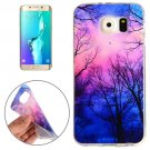 For Galaxy S6 Edge+ Trees and Clouds Pattern TPU Protective Case