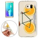 For Galaxy S6 Edge+ Lemon Pattern TPU Protective Case