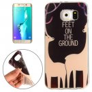For Galaxy S6 Edge+ Sika Deer Words Pattern TPU Protective Case
