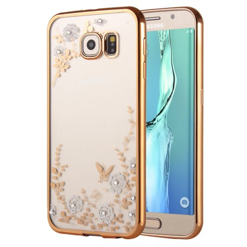 For Galaxy S6 Edge+ Flowers Patterns Electroplating Soft TPU Cover Case 3