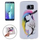 For Galaxy S6 Edge+ Ultrathin Fashion Lady Pattern TPU Protective Case