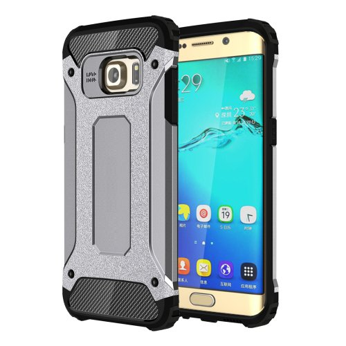 For Galaxy S6 Edge+ Grey Tough Armor TPU + PC Combination Case