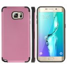 For Galaxy S6 Edge+ Pink PC + TPU Combination Case