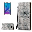 For Galaxy Note 5 Dandelion Pattern Leather Case with Holder, Card Slots & Lanyard