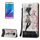 For Galaxy Note 5 Fairy Pattern Leather Case with Holder, Card Slots & Lanyard