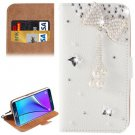 For Galaxy Note 5 Bowknot Diamond Leather Case with Holder & Card Slots