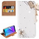 For Galaxy Note 5 I Love You Diamond Leather Case with Holder & Card Slots
