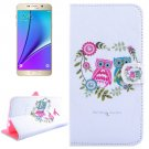 For Galaxy Note 5 Owl Diamond Leather Case with Holder, Wallet & Card Slots