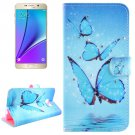 For Galaxy Note 5 Butterflies Diamond Leather Case with Holder, Wallet & Card Slots