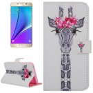 For Galaxy Note 5 Girafe Diamond Leather Case with Holder, Wallet & Card Slots