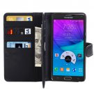 For Galaxy Note 5 Black Crazy Horse Case with Card Slots, Wallet & Holder