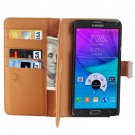 For Galaxy Note 5 Coffee Crazy Horse Case with Card Slots, Wallet & Holder