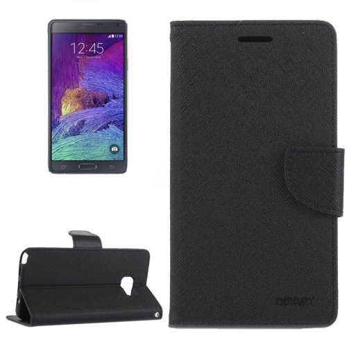For Galaxy Note 5 Grey Cross Leather Case with Card Slots, Holder & Wallet