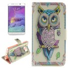 For Galaxy Note 5 Owl 2 side Leather Case with Card Slots, Holder & Wallet