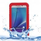For Galaxy Note 5 Red IP x 8 PVC + Silicone Waterproof Case with Lanyard