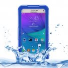 For Galaxy Note 5 Blue IPX8 TPU + PC Waterproof Case with Lanyard