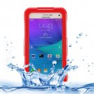 For Galaxy Note 5 Red IPX8 TPU + PC Waterproof Case with Lanyard