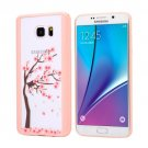 For Galaxy Note 5 Blossom Flower Pattern Transparent Plastic Protective Case 5