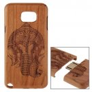 For Galaxy Note 5 Elephant Pattern Separable Cherry Wooden Case