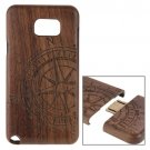 For Galaxy Note 5 Compass Pattern Separable Wooden Case